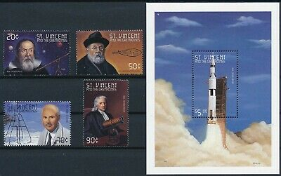 [H16702] St Vincent Gren.1999 SPACE Good lot set of stamps + sheet very fine MNH