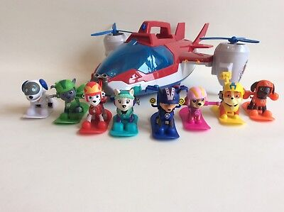 Paw Patrol Winter Rescue Action Pack Snowboarding Pups Bundle All 8 Pup Everest