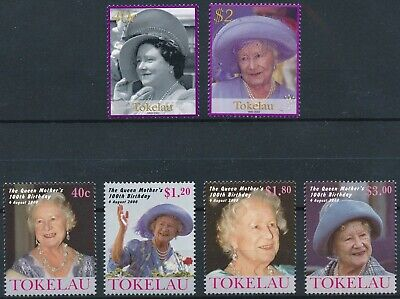 [H17066] Tokelau After 2000 ROYALTY Good lot of 2 sets of stamps very fine MNH