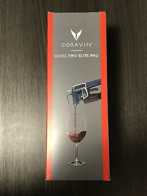 Coravin Model Two Elite Pro Wine Preservation System Midnight Blue Brand New Mnt