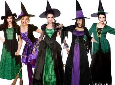 Costumi Halloween Adulti.Adulti Costume Halloween Donna Streghe Strega Vestito 5 Design