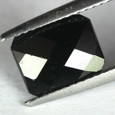 2.54 cts.9.1 x 7.1 mm.UNHEATED NATURAL BLACK ONYX OCTAGON INDIA