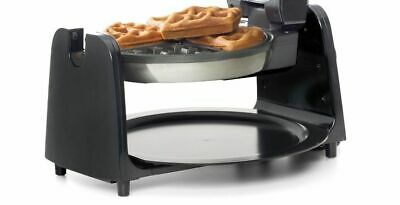Electric Belgian Waffle Maker Rotary Non Stick Iron Plate and Cool Touch Handle