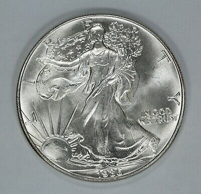 1986 American Silver Eagle $1 Bu Unc 999 Silver - Light Scuffing Otherwise (7801