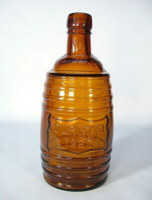 Hawley Pa Glass Works Chapin & Gore 1867 Sour Mash Chicago Whiskey Bottle