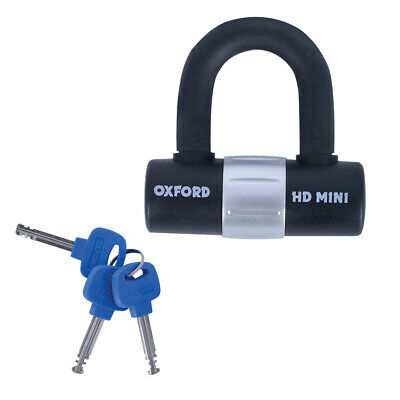 Oxford Mini HD Shackle Lock Disc Lock Sold Secure Motorcycle Scooter