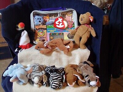 8 Ty Beanie Babies Assortment Plus Official Beanie Baby Club Package