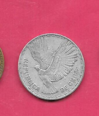 Chile Chilean Km189 1961 Vf-Very Fine-Nice Old Aluminum Large 10 Centestimo Coin