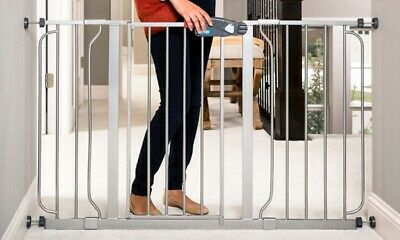 "NEW Regalo Easy Step Baby Safety Gate Extra Wide 51"" - Platinum"
