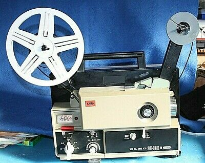 Working ELMO ST 180 M, Super 8mm Sound Projector, Serviced, Fully tested.