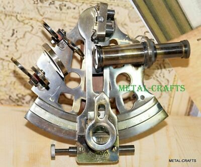 German Antique Decor Nautical Collection Brass Marine Sextant Reproduction Gift