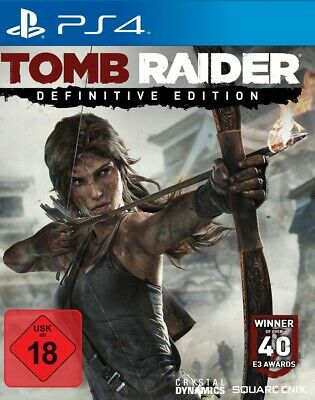 PS4  Sony Playstation 4 game Tomb Raider Definitive Edition EN GER boxed