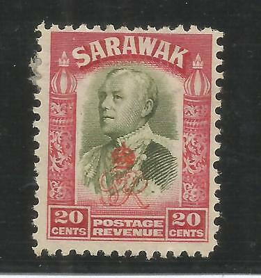 Arcade 50p Start Sarawak 1947 20c Overprint Mint Issue