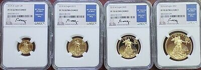 4PC Gold 2018 American Eagle Set PF70 Ultra Cameo NGC Certified
