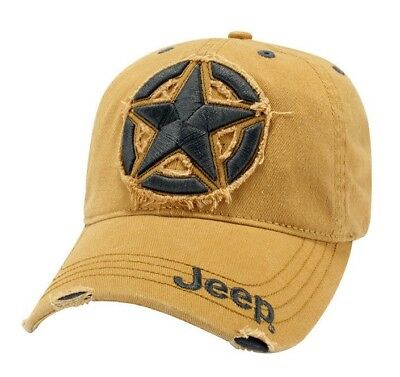 Licensed New Jeep 3D Star Embroidered Willys Wrangler Rubicon Cherokee Hat Cap