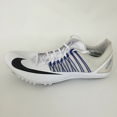 best cheap bc513 cc60d Nike Zoom Celar 5 Track Field Spikes Sprint Shoes Mens 14 White Blue  629226-100