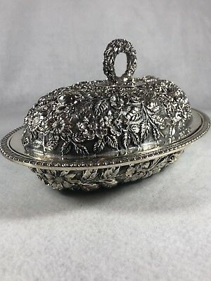 Baltimore Rose Schofield Silversmiths Sterling Covered Vegetable VERY RARE, HUGE