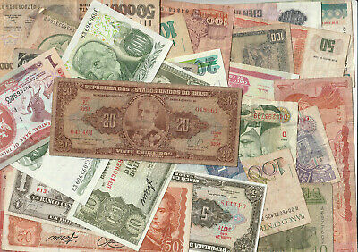 26 x OLD South American Banknotes, some UNC - Pack#2610 - LOOK!!!