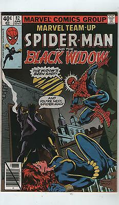 Marvel Team-Up # 82 - Spiderman / Black Widow ( Scarce - 1979)