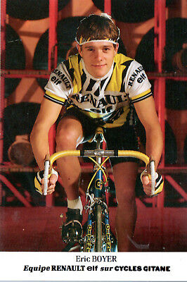 Cyclisme-Wielrennen-Ciclismo - 1 Carte - Eric Boyer - Renault 1985