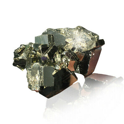 1X Pyrite Chalcopyrite Mineral Crystal Natural Ore Fool Gold Teaching Specimens