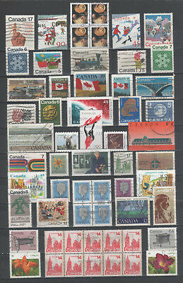 "R/al19594, LOT OF USED STAMPS OF ""CANADA - KANADA"", ALL DIFFERENT"