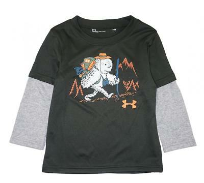 Under Armour Infant Boys Green Yeti Hiking Dry Fit Top Size 18M
