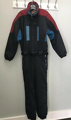 Vintage Obermeyer Mens Ski Snow Suit Size M Black Red Teal Blue Nomad II  80s 90s 3dd416037