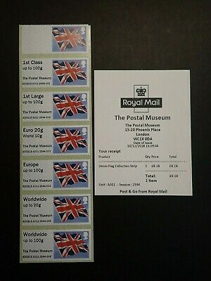 Error Post And Go Collectors Strip Union Flag The Postal Museum