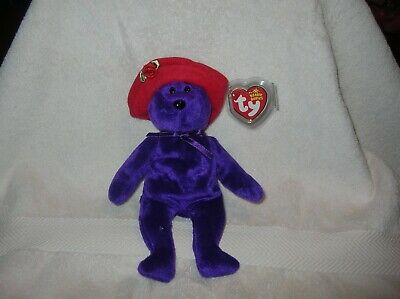 RED HAT SOCIETY MINT with MINT TAGS BEANIE BABY TY RUBY the BEAR NEW