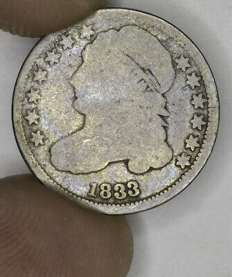 10c Cent Dime 1833 Capped Bust 10 Cent Silver