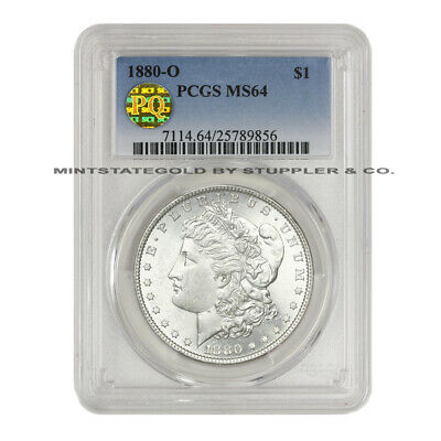 1880-O $1 Morgan PCGS MS64 PQ Approved New Orleans minted Silver Dollar coin