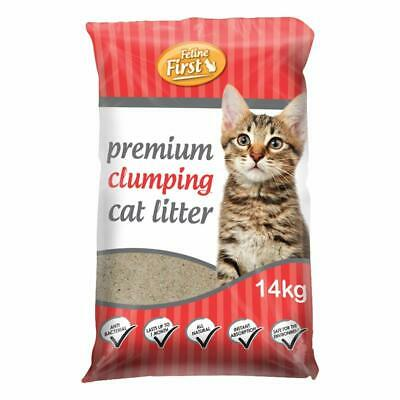 Feline First Premium Clumping Cat Litter 14 kg Gentle Clean Natural Mineral Clay
