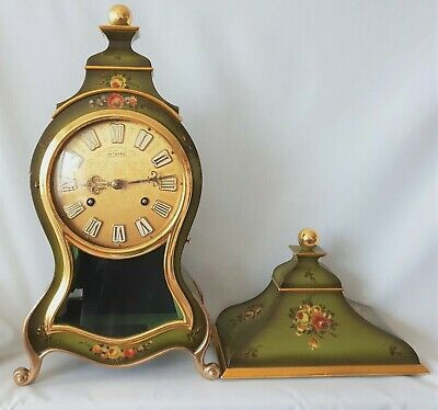 Boulle Clock Wall Mantel Le Castel Swiss Made Wall Console Pendule Bell Strike