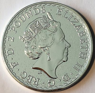 2016 U.K. 2 Pound Silver Britannia .999 1oz  Brilliant Uncirculated  #C611