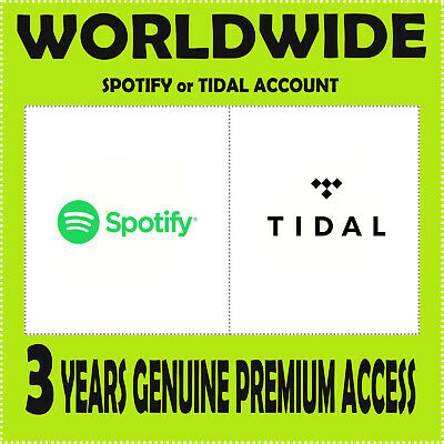 Spotify Family Invitation or Tidal HiFi Acount - Private Account - Worldwide