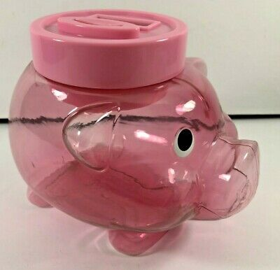 NEW AVON PINK Electronic Digital Coin Counting Money Jar Piggy Bank