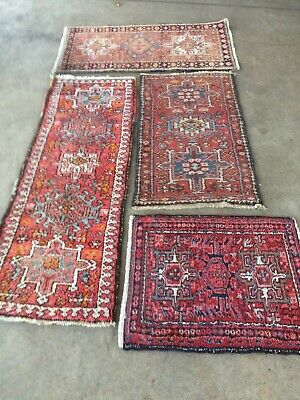 antico-swiss 4 Beautiful Antique indoKARAJAH rugs 1`9x5`3and2`3x4`2and2`1x3`8 ft