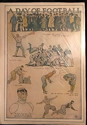 """Vintage Late 1800's/Early 1900's """"A Day Of Football"""" Full Page! Frame It!"""