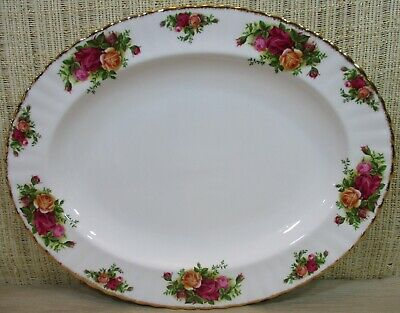 """Royal Albert Old Country Roses 13¾"""" Oval Serving Platter/Tray Made England (P4)"""
