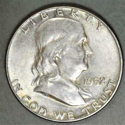 1952 Franklin Half Dollar Silver Coin
