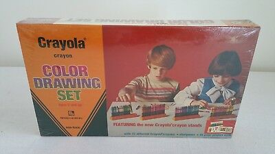 Vintage Crayola Crayon Color Drawing Set - 1977 - New - Sealed - Made In  USA