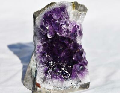 """2569 Super Purple Amethyst Geode Cathedral URUGUAY Flat Free Standing 73mm 2.9"""""""