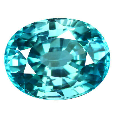 2.93Ct IF Five-star Oval Cut 9 x 7 mm 100% Natural AAA Blue Zircon