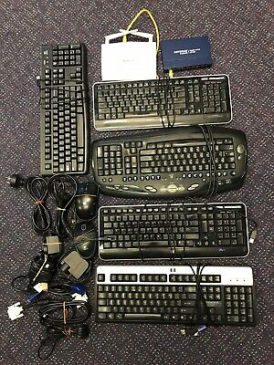 Keyboards x 5 and Assorted IT items Bulk Lot