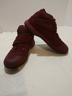 8c99719d1722 NIKE KYRIE 2 GS 826673-600 Maroon red Knit Mid Suede Strap Sneaker ...