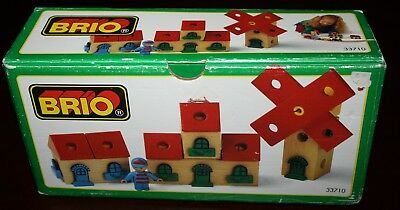 In Box 30 Ps Brio Wooden Railway System Building Kit Windmill House Figure 33710