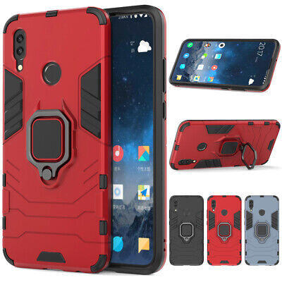 Shockproof Rugged Case Heavy Duty Cover+Tempered Glass For Huawei P Smart/2019