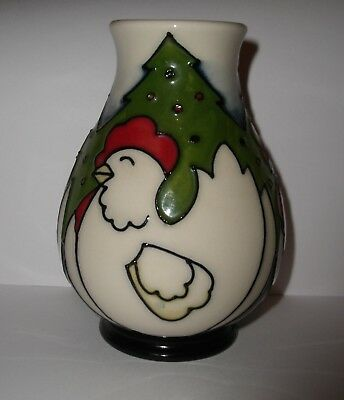 "Moorcroft  12 Days Of Christmas "" 3 French Hens  "" Un-Boxed"