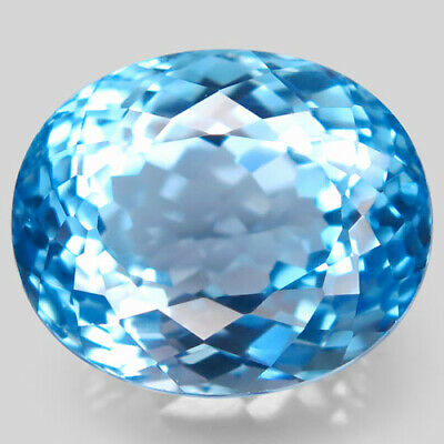 28.94ct.Top Sky Blue Topaz 100%Natural (Brazil) Oval Facet 18x15mm.AAA BIG Nr!.